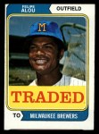 1974 Topps Traded #485 T  -  Felipe Alou Traded Front Thumbnail