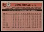1981 Topps #29  Gene Tenace  Back Thumbnail