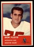 1963 Fleer #43  Don Floyd  Front Thumbnail