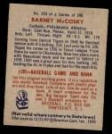 1949 Bowman #203  Barney McCoskey  Back Thumbnail