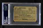 1952 Bowman Small #129  Jack Christiansen  Back Thumbnail