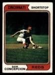 1974 Topps #435  Dave Concepcion  Front Thumbnail