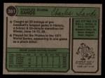 1974 Topps #381  Charlie Sands  Back Thumbnail