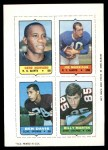 1969 Topps 4-in-1 Football Stamps  Gene Howard / Joe Morrison / Ben Davis / Billy Martin  Front Thumbnail