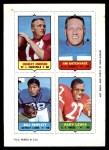 1969 Topps 4-in-1 Football Stamps BLU Charley Johnson / Jim Katcavage / Bill Triplett / Gary Lewis  Front Thumbnail