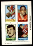 1969 Topps 4-in-1 Football Stamps  Tom Beer / Jim Colclough / Steve DeLong / Miller Farr  Front Thumbnail