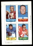1969 Topps 4-in-1 Football Stamps YEL Charley Johnson / Jim Katcavage / Bill Triplett / Gary Lewis  Front Thumbnail