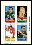 1969 Topps 4-in-1 Football Stamps  Joe Scarpati / Walter Rock / Bernie Casey / Jack Concannon  Front Thumbnail