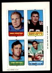 1969 Topps 4-in-1 Football Stamps  Mike Stratton / Marion Rushing / Jim Keyes / Solomon Brannan  Front Thumbnail