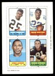 1969 Topps 4-in-1 Football Stamps  Jerry Simmons / Bob Hayes / Spider Lockhart / Doug Atkins  Front Thumbnail