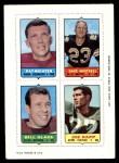 1969 Topps 4-in-1 Football Stamps  Pat Richter / Dave Whitsell / Bill Glass / Joe Kapp  Front Thumbnail