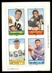 1969 Topps 4-in-1 Football Stamps  Clendon Thomas / Don McCall / Lonnie Warwick / Earl Morrall  Front Thumbnail