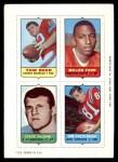 1969 Topps 4-in-1 Football Stamps  Tom Beer / Jim Colclough / Steve DeLong / Miller Farr  Front Thumbnail