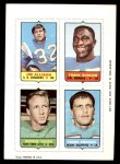 1969 Topps 4-in-1 Football Stamps  Jim Allison / Frank Buncom / George Sauer / Frank Emanuel  Front Thumbnail