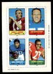 1969 Topps 4-in-1 Football Stamps BLU Charley Johnson / Jim Katcavage / Bill Triplett / Gary Lewis  Front Thumbnail