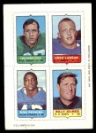 1969 Topps 4-in-1 Football Stamps  Tom Woodeshick / Greg Larson / Don Perkins / Billy Kilmer  Front Thumbnail