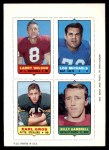 1969 Topps 4-in-1 Football Stamps  Larry Wilson / Lou Michaels / Earl Gros / Billy Gambrell  Front Thumbnail