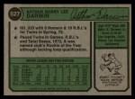 1974 Topps #527  Bobby Darwin  Back Thumbnail