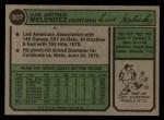 1974 Topps #307  Luis Melendez  Back Thumbnail