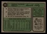 1974 Topps #46  Pat Kelly  Back Thumbnail