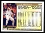1999 Topps #10  David Wells  Back Thumbnail