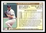 1999 Topps #38  Sean Bergman  Back Thumbnail