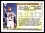 1999 Topps #59  Jimmy Haynes  Back Thumbnail