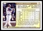 1999 Topps #62  Vladimir Guerrero  Back Thumbnail