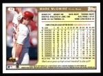 1999 Topps #70  Mark McGwire  Back Thumbnail