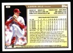 1999 Topps #86  Aaron Sele  Back Thumbnail