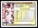 1999 Topps #121  Dave Burba  Back Thumbnail