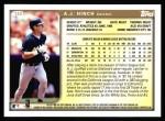 1999 Topps #132  A.J. Hinch  Back Thumbnail