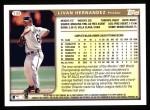 1999 Topps #149  Livan Hernandez  Back Thumbnail