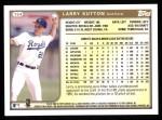 1999 Topps #154  Larry Sutton  Back Thumbnail