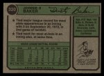1974 Topps #320  Dusty Baker  Back Thumbnail