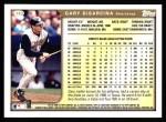 1999 Topps #163  Gary DiSarcina  Back Thumbnail