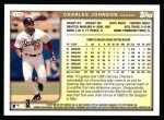 1999 Topps #175  Charles Johnson  Back Thumbnail