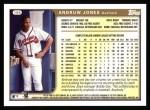 1999 Topps #195  Andruw Jones  Back Thumbnail
