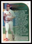 1999 Topps #201   -  Mark McGwire  Highlights Back Thumbnail
