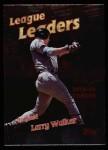 1999 Topps #221   -  Larry Walker League Leaders Front Thumbnail