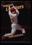 1999 Topps #223   -  Mark McGwire League Leaders Front Thumbnail