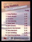 1999 Topps #231   -  Greg Maddux League Leaders Back Thumbnail