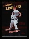 1999 Topps #231   -  Greg Maddux League Leaders Front Thumbnail