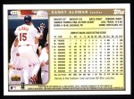 1999 Topps #245  Sandy Alomar Jr.  Back Thumbnail