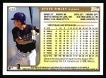 1999 Topps #253  Steve Finley  Back Thumbnail