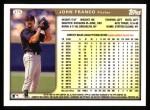 1999 Topps #275  John Franco  Back Thumbnail