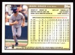 1999 Topps #280  Mark Grace  Back Thumbnail