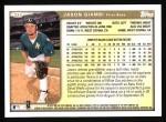 1999 Topps #324  Jason Giambi  Back Thumbnail