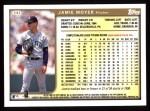 1999 Topps #343  Jamie Moyer  Back Thumbnail