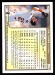 1999 Topps #380  Jim Thome  Back Thumbnail